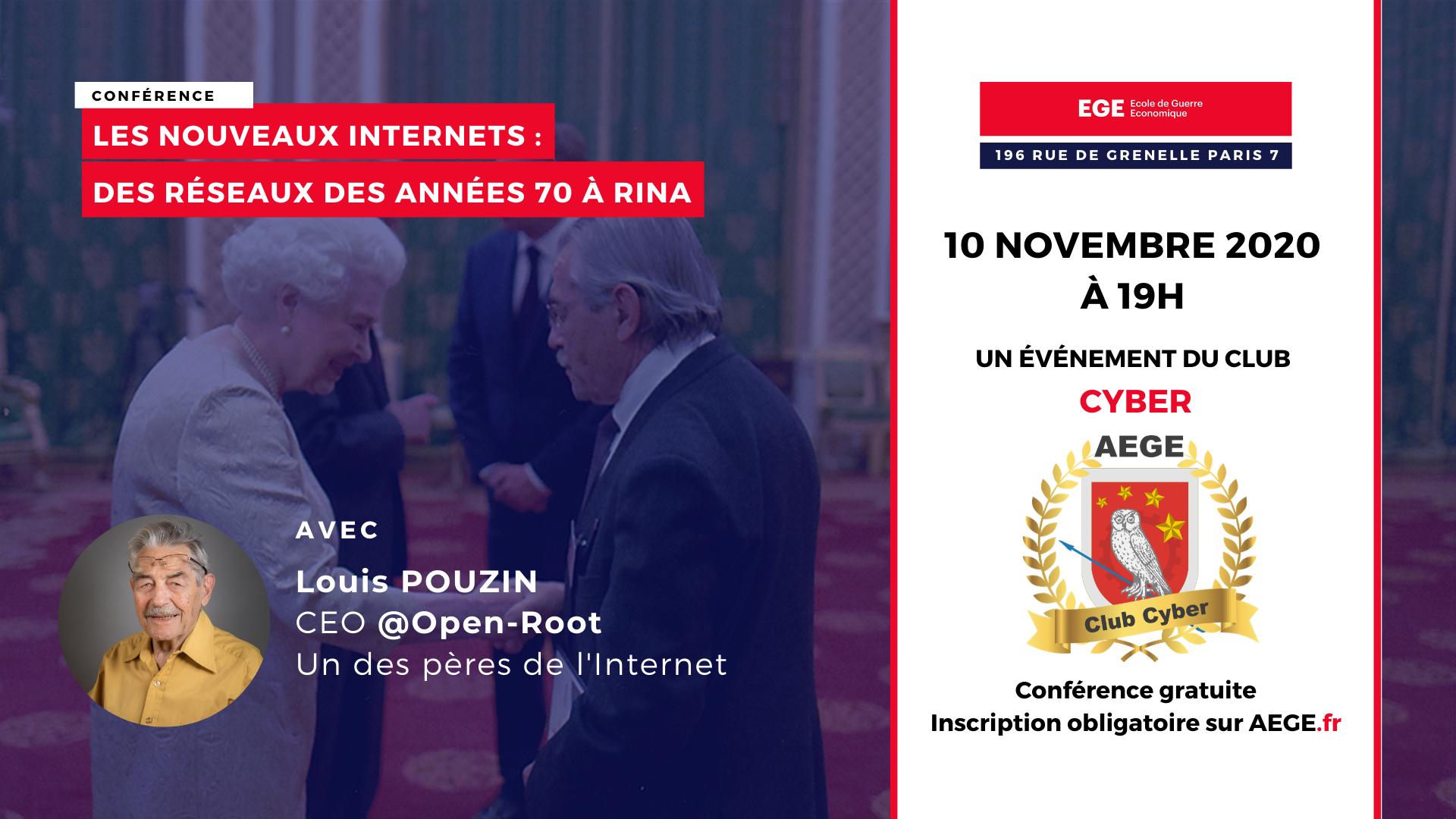 Conférence club Cyber AEGE Pouzin Rina