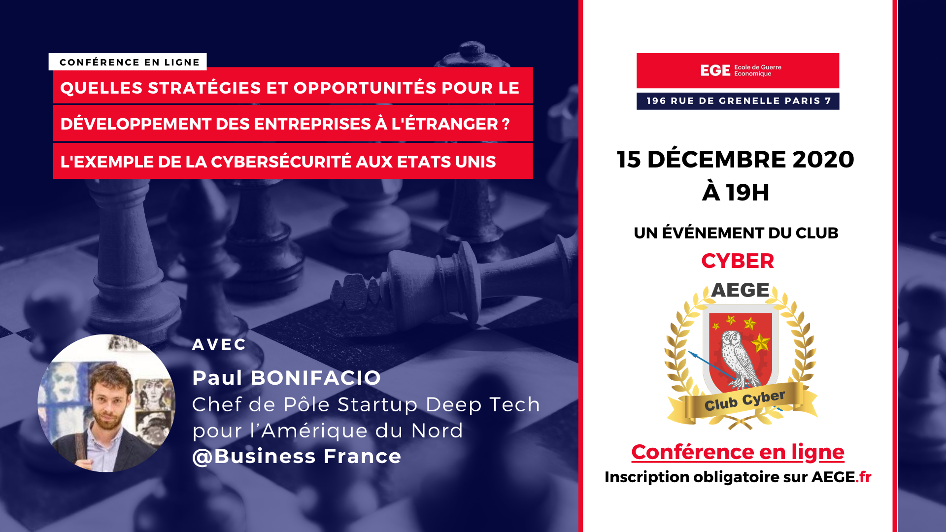 Conférence club Cyber AEGE Bonifacio Business France