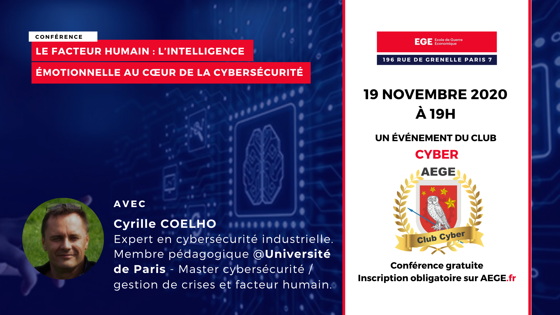 Conférence club Cyber AEGE intelligence émotionnelle