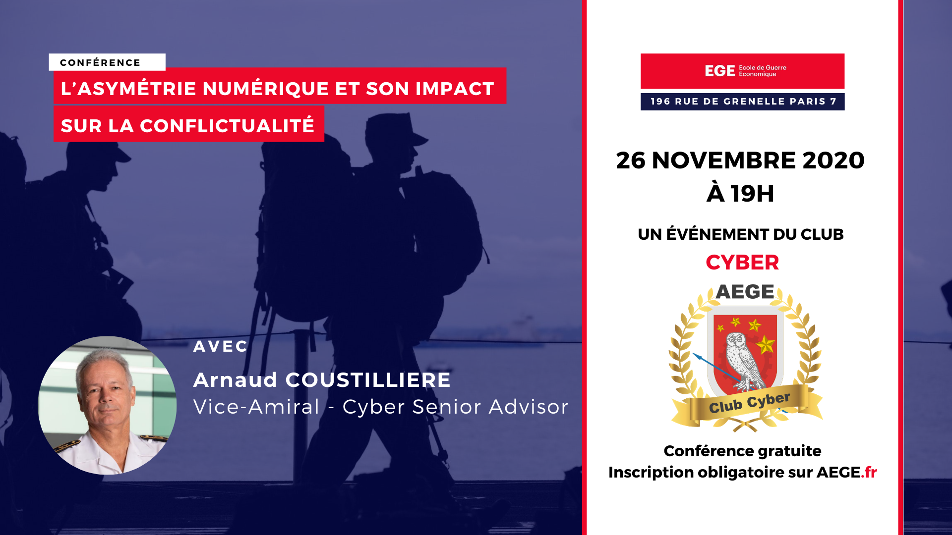 Conférence club Cyber AEGE Coustillière asymétrie numérique